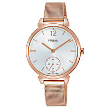 Pulsar Ladies' Rose Gold Mesh Bracelet Watch - Product number 8081557