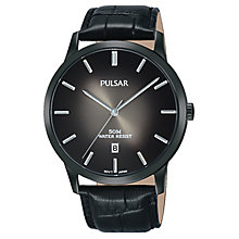 Pulsar Men's Ion Plated Black Strap Watch - Product number 8081581