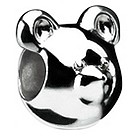 Eternal Silver bear head bead - Product number 8083509