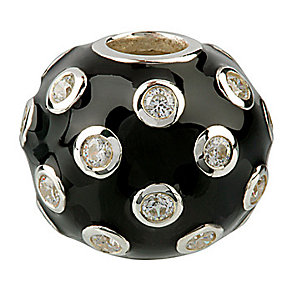 Eternal Silver black stone set bead - Product number 8083762
