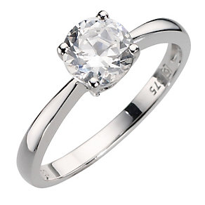 9ct white gold cubic zirconia ring - Product number 8084998