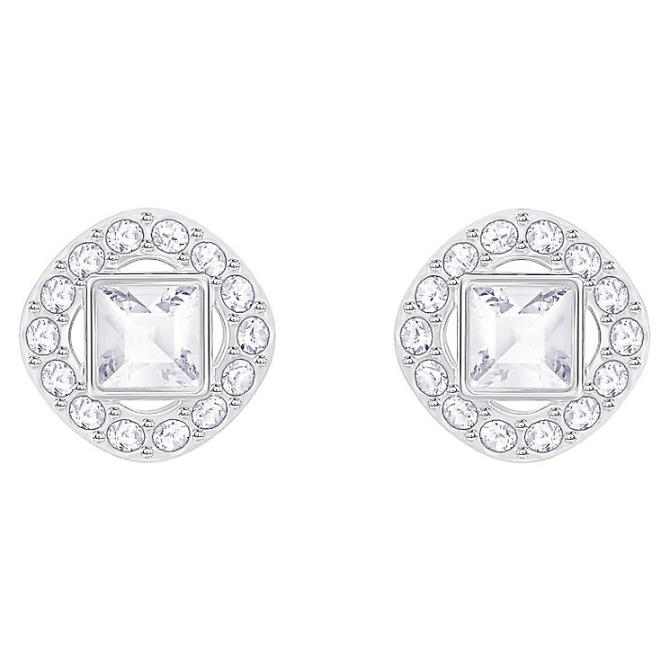 Swarovski Angelic Rhodium Plated Square Stud Earrings - Product number 8085277
