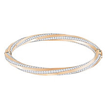 Swarovski Hilt Rose Gold Plated Bangle Size M - Product number 8085447
