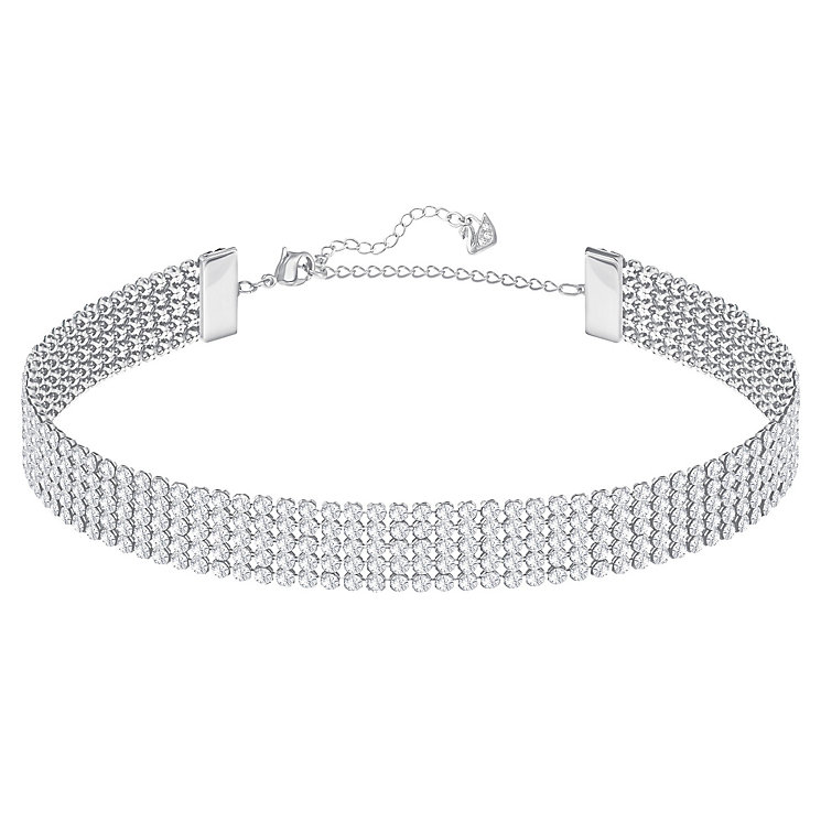 Swarovski Rhodium Plated Crystal Choker - Product number 8085870