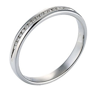 18ct White Gold Diamond Channel Set Ring