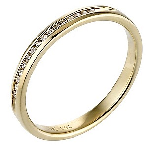 18ct Yellow Gold Diamond Channel Set Ring - Product number 8086893