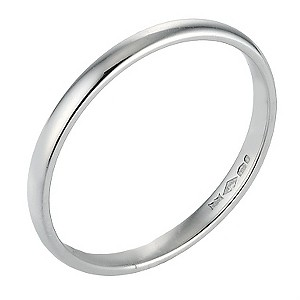 Platinum Extra Heavy Court Ring 2mm