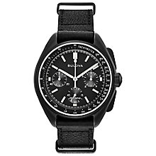 Bulova Men's Moon Black Chronograph Strap Watch - Product number 8087857