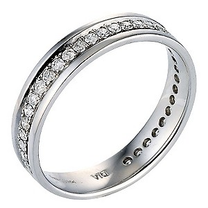 9ct White Gold Third Carat Diamonds Eternity Ring