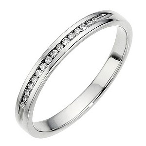 Palladium Channel Diamond Ring