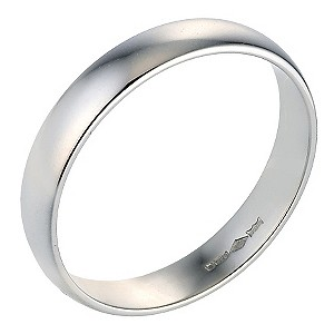 Platinum Extra Heavy Court Ring 4mm
