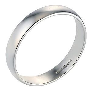 Platinum Extra Heavy Court Ring 4mm