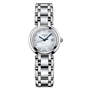 Longines ladies' stainless steel diamond bracelet watch - Product number 8092869