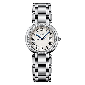 Longines PrimaLuna ladies' stainless steel bracelet watch - Product number 8092885