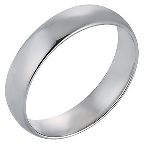 Platinum Extra Heavy Court Ring 5mm - Product number 8093415