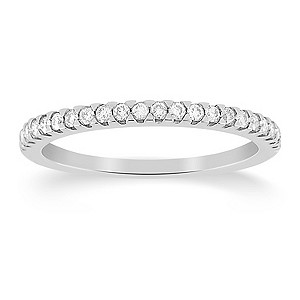 18ct White Gold Fifth Carat Diamond Eternity Ring