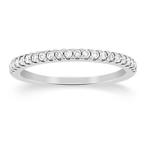 18ct White Gold Fifth Carat Diamond Eternity Ring - Product number 8095876