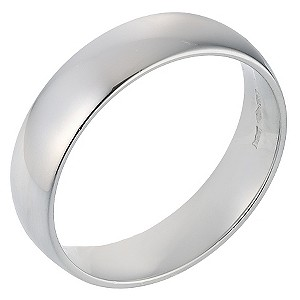 Platinum Extra Heavy Court Ring 6mm