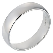Platinum 6mm Extra Heavy Court Ring - Product number 8097291