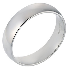 Platinum Extra Heavy Court Ring 6mm - Product number 8097291