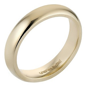 9ct Yellow Gold Luxury Court Ring 4mm