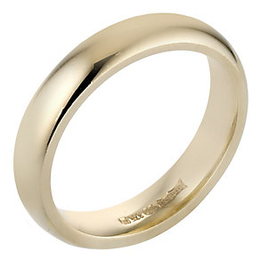 9ct Yellow Gold Luxury Court Ring 4mm - Product number 8098093