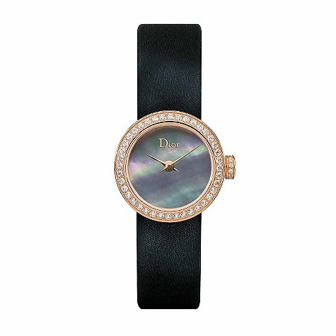 Christian Dior Mini rose gold diamond set ladies' watch