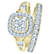 9ct Yellow Gold 4/5ct Diamond Perfect Fit Bridal Set - Product number 8103127