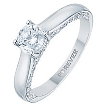 18ct White Gold 1ct Forever Diamond Solitaire Ring - Product number 8103291
