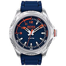 Boss Orange Men's Blue Silicone Strap Watch - Product number 8104697