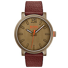 Boss Orange Men's Brown Leather Strap Watch - Product number 8104719