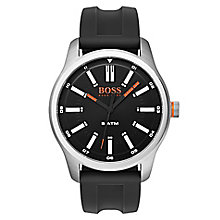 Boss Orange Men's Black Silicone Strap Watch - Product number 8104751