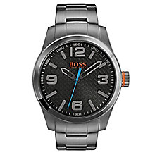 Boss Orange Men's Gunmetal Stainless Steel Bracelet Watch - Product number 8104786
