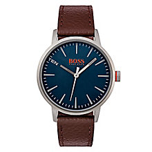Boss Orange Men's Brown Leather Strap Watch - Product number 8104808