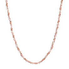 "9ct Rose Gold 18"" Chain Necklace - Product number 8108900"