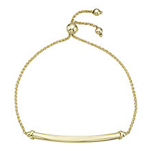 9ct Yellow Gold Adjustable Lightweight Chain Bracelet - Product number 8109168