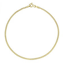 9ct Yellow Gold Fine Curb Chain Bracelet - Product number 8109206