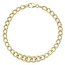 9ct Yellow Gold Lightweight Curb Chain Bracelet - Product number 8109222