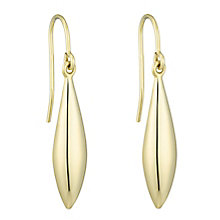 Together Silver & 9ct Bonded Gold Drop Earrings - Product number 8110611