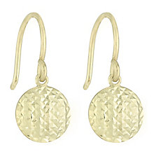 Together Silver & 9ct Bonded Gold Diamond Cut Drop Earrings - Product number 8110697