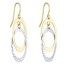 Together Silver & 9ct Bonded Gold Double Drop Earrings - Product number 8110751