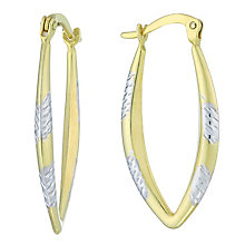 Together Silver & 9ct Bonded Gold Two Colour Creole Earrings - Product number 8110778