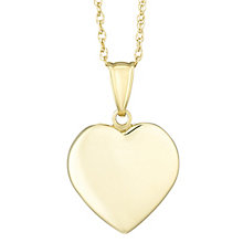 Together Silver & 9ct Bonded Gold Solid Heart Pendant - Product number 8110816