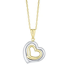 Together Silver & 9ct Bonded Gold Two Colour Heart Pendant - Product number 8110840