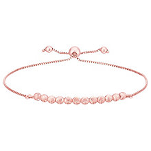 9ct Rose Gold Beaded Adjustable Bracelet - Product number 8111251