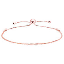 9ct Rose Gold Sparkle Adjustable Bracelet - Product number 8111278