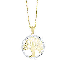 9ct Yellow Gold & White Gold Tree of Life Design Pendant - Product number 8111308