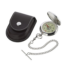 Jean Pierre compass chain with leatherette case - Product number 8113505