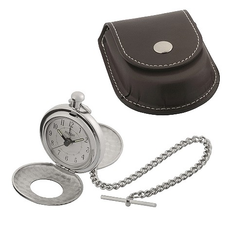 Jean Pierre pocket alarm watch with leatherette case