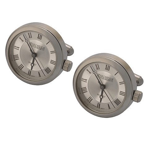 Jean Pierre silver dial cufflink watches